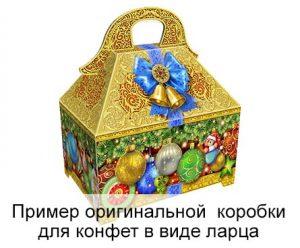 тиснение на коробке для конфет